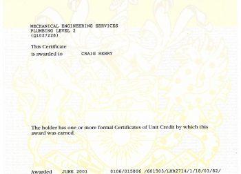 Craig hunry Certificate